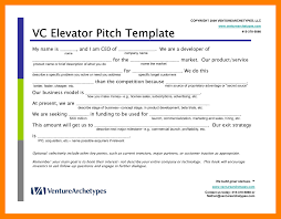 Elevator Speech Example Pitch Examples Template N 6 Bvgqdz ...