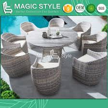 china patio rattan dining set with