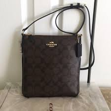 Authentic Coach North South Crossbody Bag