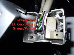 trrv wiring forum has anyone got an internal pic of the left hand switch showing how the g white g red lg brown wires connect in to the switch i ll run some new wires