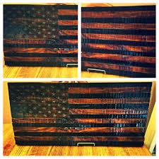 custom made rustic wooden american flag