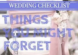 Wedding Detail Checklist Wedding Checklist Big And Small Things You Might Forget