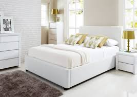 Ottoman Bedroom Furniture Henley White Leather Ottoman Storage Bed Ottoman Beds Beds