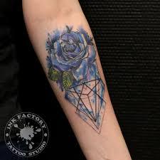 роза с графикой в акварели сделано в Inkfactory