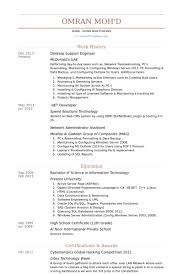Desktop Support Engineer Resume Samples Visualcv Resume Samples
