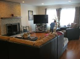 living room with tv and fireplace. Living Room Before With Tv And Fireplace