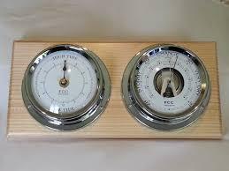 coastal home set barometer tide clock