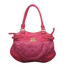 Coach Logo In Monogram Medium Fuchsia Satchels EMK