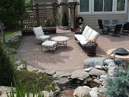 raised stone patio ideas new building a raised garden bed with pavers