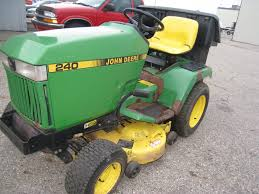 john deere 240 w 38 mower deck twin bagger snow er