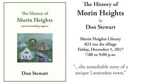 New Book on Morin Heights History, by Don Stewart | Laurentian Heritage  WebMagazine