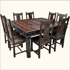 rustic dining room tables and chairs. Richmond Rustic Solid Wood Large Square Dining Room Table Chair Set Tables And Chairs A