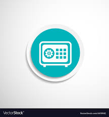 Bank Security Design Flat Icon Safe Lock Finance Bank Security