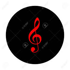 Music Violin Clef Sign G Clef Treble Clef Red Vector Icon
