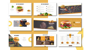 Free Food Powerpoint Templates Special Burger Free Presentation Template Food