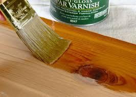 original spar varnish on wood close up 4x3