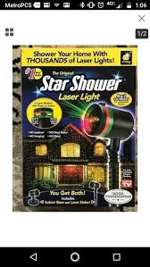 BulbHead Star Shower Weather Laser Light Projector for Sale in San ...