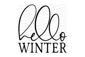 Hello Winter - Farmhouse Fixer Upper Square Cutting File (388239)   SVGs    Design Bundles