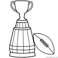Small Picture Super Bowl Trophy with Football Coloring Page Super Bowl
