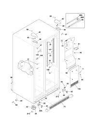 frigidaire model glrs267zcw1 side by side refrigerator genuine parts