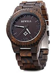 amazon co uk bewell watches gblife bewell zs w065a mens wooden watch analog quartz movement date display retro style