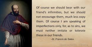 St Francis Quotes Impressive Daily Virtue Quote St Francis De Sales Eucharistic Virtue