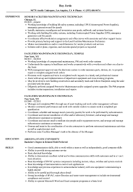 Maintenance Technician Job Description Resume Facilities Maintenance Technician Resume Samples Velvet Jobs 21