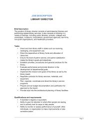 director job description library director job description template word pdf by business