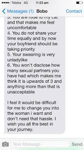 Man Lists Reasons For Breakup With Girlfriend In Text Ny Daily News