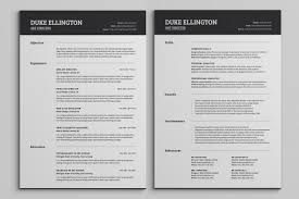 2 Page Resume Page Resumeplateplates Free Download Format Professional Cv Two 47