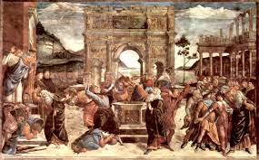 scene from the life of moses 1481 1482 sandro botticelli