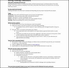 painting contractor e template sheet templates samples pdf interior bbgbt unique building