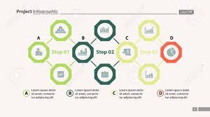 Four Elements Process Chart Slide Template Business Data Option