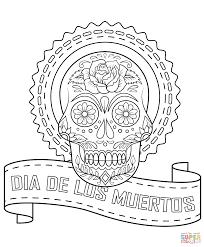 Dia De Los Muertos Sugar Skull Coloring Page Free Printable And Day