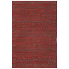 winnie red damask 5 ft x 8 ft area rug