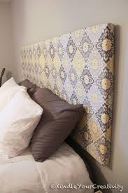 Cover Headboard With Fabric Best 25 Canvas Headboard Ideas On Pinterest Headboards For Beds