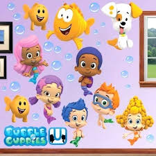 >bubble guppies wall decals with bubble guppies wall sticker molly  bubble guppies wall decals with bubble guppies wall sticker molly removable art decor whats it worth nickelodeon bubble guppies led canvas wall art nba