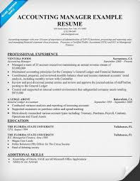 Sample Resume For Accounting Manager Accounting Manager Resume Sample Resume Samples Across All