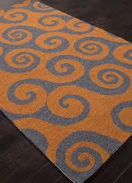 picture of jaipur coastal abstract pattern polypropylene orange gray indoor outdoor rug ci31