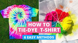 How to <b>Tie</b>-<b>Dye</b> T-Shirts: 6 Easy Methods DIY - YouTube