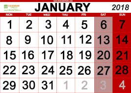 january 2018 calendar free january 2018 days of the week and calendar calendar table calendar