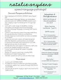 Speech Pathology Resume Awesome Resumes For And New Grads Speech Language Pathology Resume Cfy