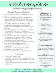 Speech Pathology Resume Awesome Resumes For And New Grads Speech Language Pathology Resume Cfy