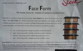 sleek makeup face form palette um review swatches
