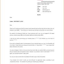 sample maternity leave letter employer template parental leave letter template