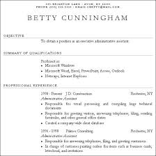 Free Work Experience Example Of Resume With No Job Experience Examples Of Resumes With