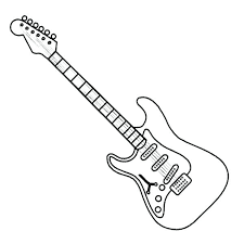 guitar coloring sheets electric pages luxury with additional picture to free for s