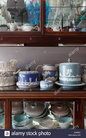 Wedgewood Jasper Arranged On Kitchen Display Cabinet Containing - Kitchens by wedgewood