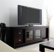 clarkston lcd tv stand in solid oak w cappuccino finish sliding glass doors