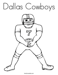 Dallas Cowboys Coloring Page Twisty Noodle